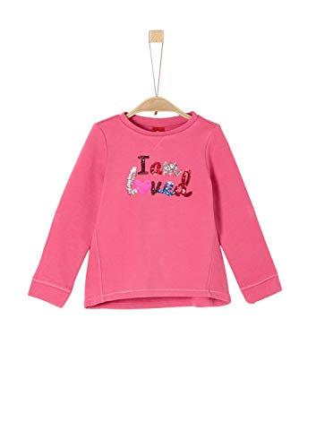 s.Oliver Mädchen 53.909.41.2431 Sweatshirt, Rosa (Pink 4543), 128 (Herstellergröße: 128/134/REG)