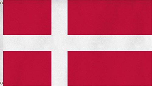 normani Fahne mit Messingösen 90 x 150, 150 x 250 oder 300 x 500 cm wählbar Farbe Dänemark Größe 90 x 150
