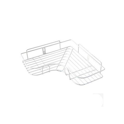 Jiaojia toilettes salle de bain mur de la cuisine rack de stockage étagère suspendue en fer forgé trépied deux ensembles de Punch,blanc,Accessoires de dessin correctif individuel