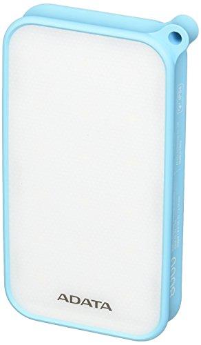 ADATA AD8000L-5V-CBL Powerbank, 8000 mAh blauw