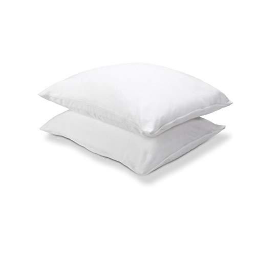 Walra Molton Kissenbezug Cotton Cover, 100% Baumwolle, 2X 60x70, 2-teilig, Weiß