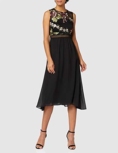Marca Amazon - TRUTH & FABLE Vestido Midi Evasé de Encaje Mujer, Multicolor (Multicoloured), 46, Label: XXL