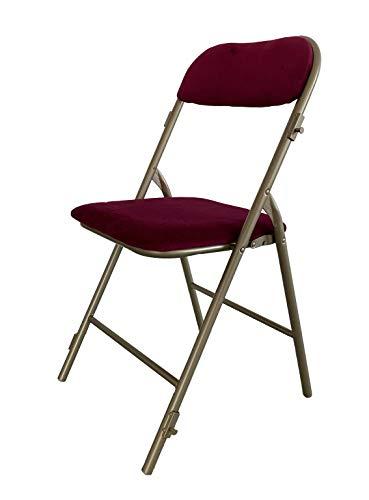 Lot de 6 chaises pliantes PRESTIGE rouge et Or