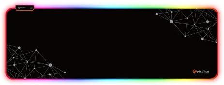 وسادة ماوس خفيفة خلفية ملونة من ميشن P121 لاجهزة الكمبيوتر/ الكمبيوتر المحمول (88x30.9 سم) – اسود