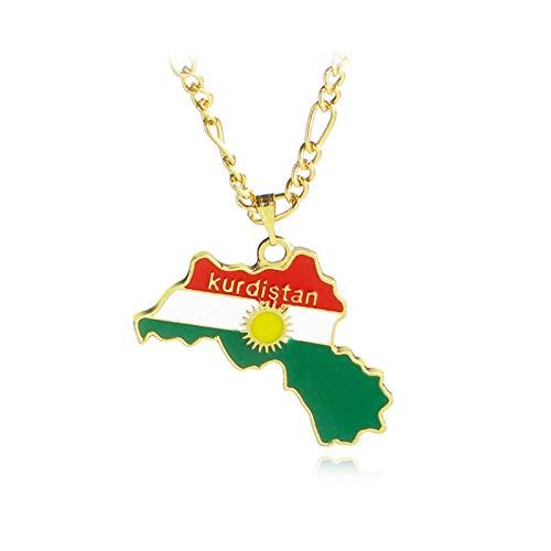 ASDFG Collar con Colgante de Mapa Colorido de Moda, Collar de mapas, joyería para Mujeres y Hombres, Regalo