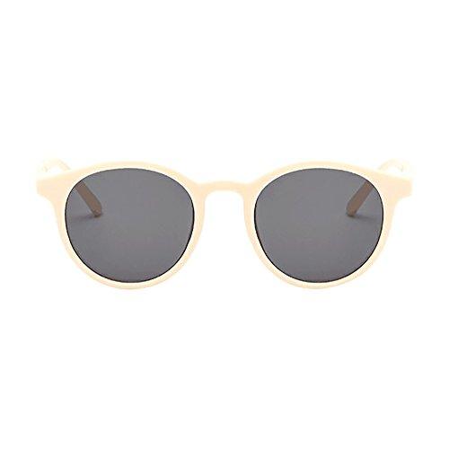 FRAUIT Vintage ronde zonnebril voor dames Classic Retro Designer Style zonnebril met rond frame