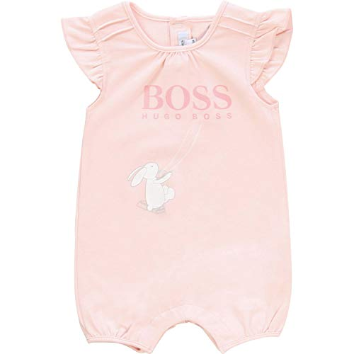 Hugo Boss Baby Spieler kurz mit Flügelärmeln Logo und Fantasyprint rosa Groesse 18 Monate
