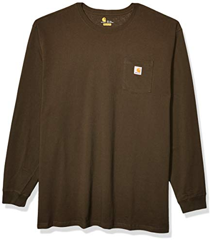 Carhartt Workwear Midweight Jersey Pocket Long-Sleeve T-Shirt K126 Lavoro, Torba, XXXXXL Uomo