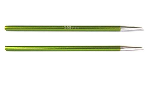 KnitPro wechselbare Nadelspitzen ZING kurz, 3,50mm Rundstricknadel, Aluminium, Chrysolite, 12.5 x 0.35 x 0.35 cm, 2-Einheiten