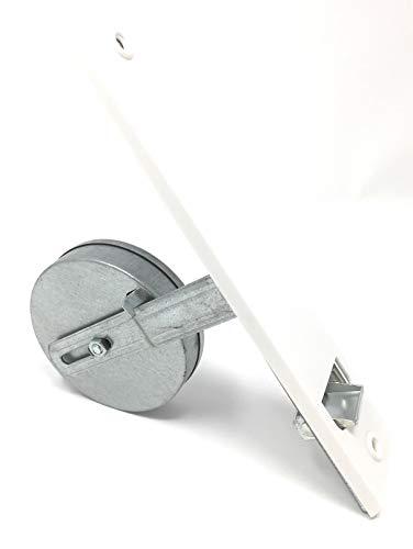 Einlassgurtwickler incl. Abdeckplatte weiß, Lochabstand 215 mm, für 10-12 m Gurtaufnahme maxis bis 23 mm,