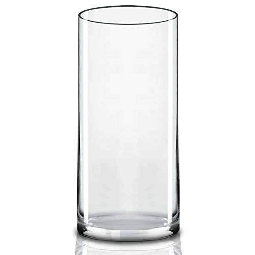 CYS EXCEL Glass Cylinder Vase, Floating Candle Holders, Flower vase, Decorative Centerpiece for Home or Wedding, (4' Wide x 9' Tall, Pack of 1)