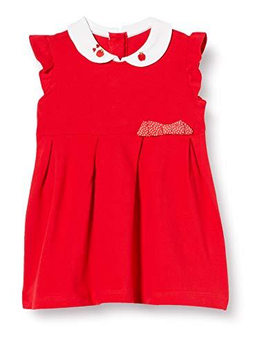 Chicco Baby-Mädchen Abito Senza Maniche Kleid, Rot (Rosso 075), 86 (Herstellergröße: 086)