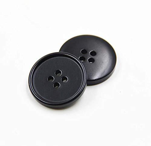 50 szt. wyprzedaż żywica górny płaszcz klamra wiatrówka przycisk garnituru, czarny, 22 mm
