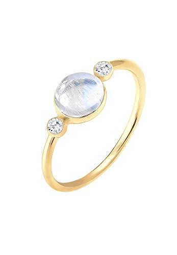 Elli Damen-Stapelring 925 Sterling Silber Mondstein 0610950417_58