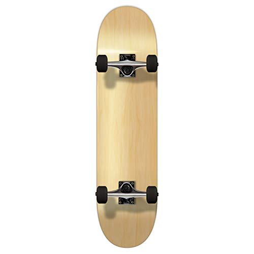 """Pro Yocaher Blank Complete Skateboard - Natural Woods (Assembled, 7.75"""")"""