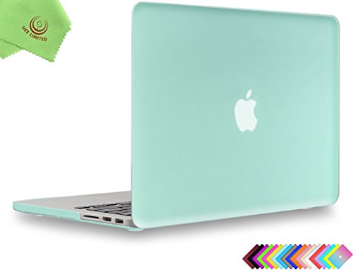 UESWILL Smooth Matte Hard Shell Case Cover for MacBook Pro 13 inch with Retina Display No CD-ROM, No USB-C (Model A1502/A1425, Version Early 2015/2014/2013/Late 2012), Green