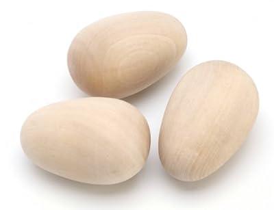 Darice 9119-64 Big Value Wood Egg, 2-1/2-Inch