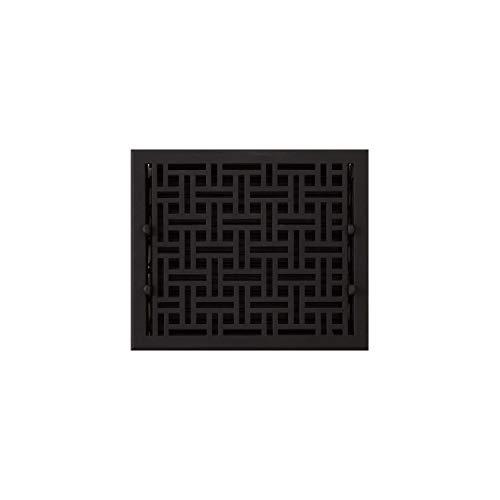 Signature Hardware 925587-10-12 Wicker Style Cast Iron Floor Register - 10' x 12' (11-1/8' x 13-1/8' Overall)