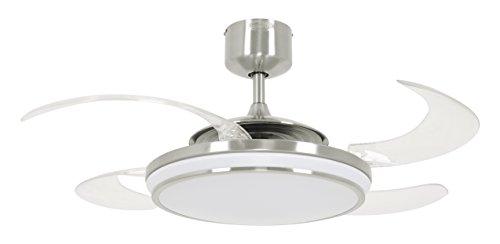 Beacon Fanaway Evo1 LED Ventilador, Cromo y Blanco, 122 cm Durchmesser