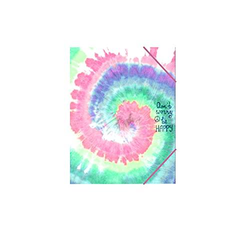Senfort Katacrak A5 Tie Dye Print - Cartella portadocumenti in cartone con 12 divisori, 35 x 27 x 2,5 cm, multicolore