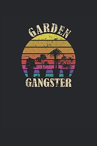 Jardín Gángster Vintage Atardecer Garden Gangster: Cuaderno   Cuadriculado   A cuadros (6 'x9' (15,24 x 22,86 cm)), 120 páginas, papel crema, cubierta mate