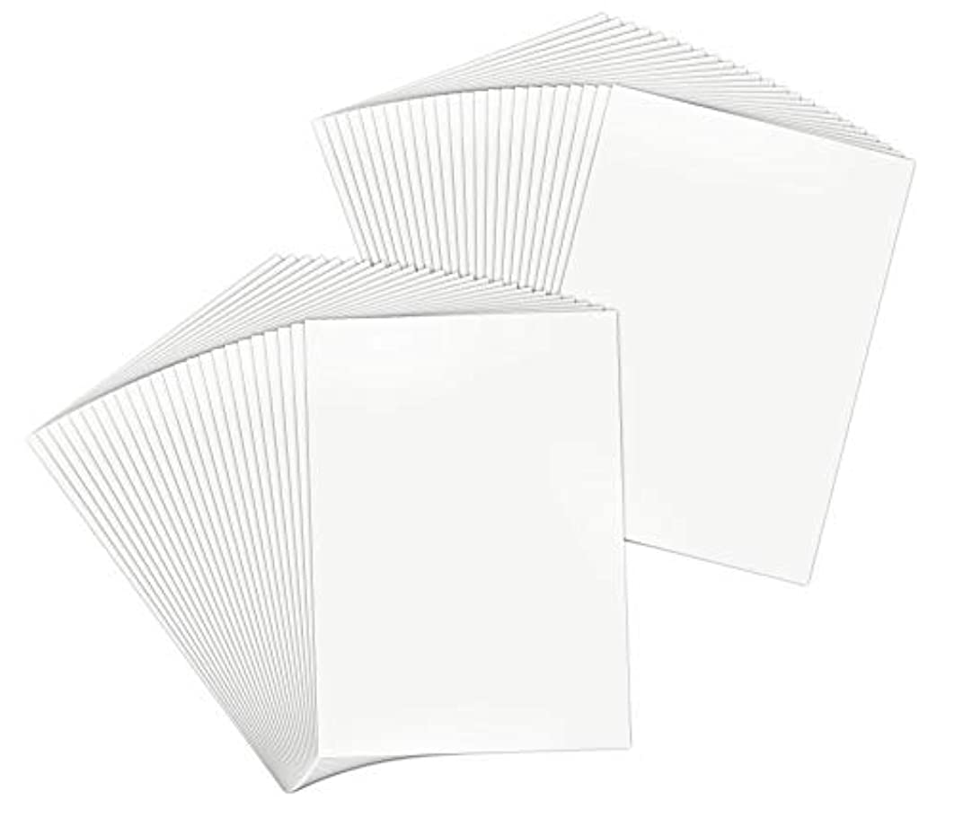 Golden State Art, Pack of 50, 5x7 Backerboards for Framing. Pack Contains 50 Backing Boards