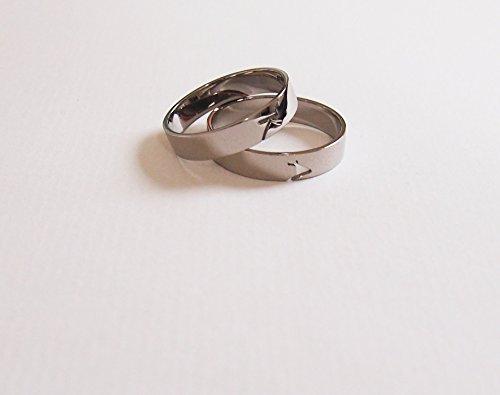 Personalisierte Eheringe / Partnerringe / Verlobungsringe mit Ihren Initialen