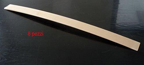 RETI GRITTI Set 8 Listelli, Doghe di Ricambio per Letto Pieghevole, 79x5x0,8 cm, Marrone, 53x8x789