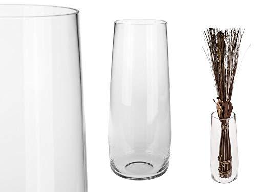 Vase Glas konisch Klarglas mit massivem Eisboden H: ca. 45cm