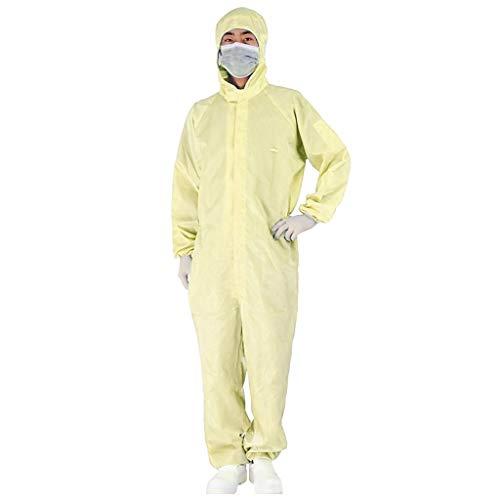 Zarupeng beschermende kleding voor eenmalig gebruik, Siamesisch capuchon, beschermend pak, elastische pols en capuchon, overall chemische Hazmat isolatie, suit werkkleding