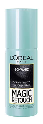 L'Oréal Paris Ansatz-Kaschierspray ohne Ammoniak, Auswaschbare Haarfarbe, Magic Retouch Ansatzspray Ansatzspray, Schwarz, 1 x 75 ml