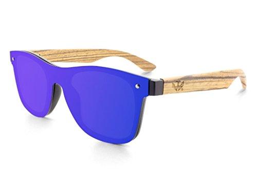 Gafas de lente plana MOSCA NEGRA modelo MIX TULUM'La Dolce Vita' - Patillas madera