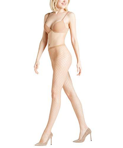 FALKE Damen Strumpfhosen Classic Net - Transparente, Matt, 1 Stück, Beige (Powder 4169), Größe: M