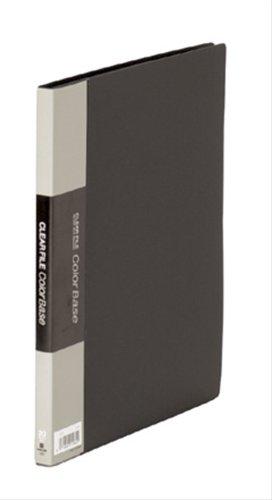 キングジム クリアーファイルカラーベース B5(S型)20枚 黒 122Cクロ