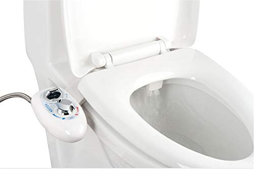 Bidet,PowerDoF EB8601 Self Cleaning Nozzle Hot&Cold Fresh Water Spray Non-Electric Mechanical Bidet Toilet Attachment with Adjustable Water Temperature