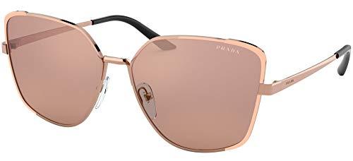 Prada Damen 0PR 60XS Sonnenbrille, ROSE GOLD/BROWN GOLD, 59