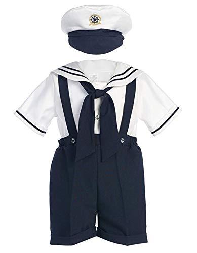 Classykidzshop Navy Sailor Boy Shirt, Shorts, Tie and Hat (Baby)...