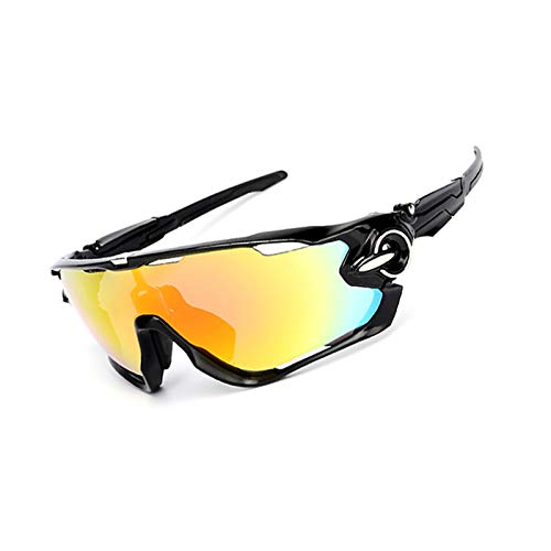 Blisfille Gafas para Nadar Gafas Proteccion Frontenis,Negro Blanco Nail