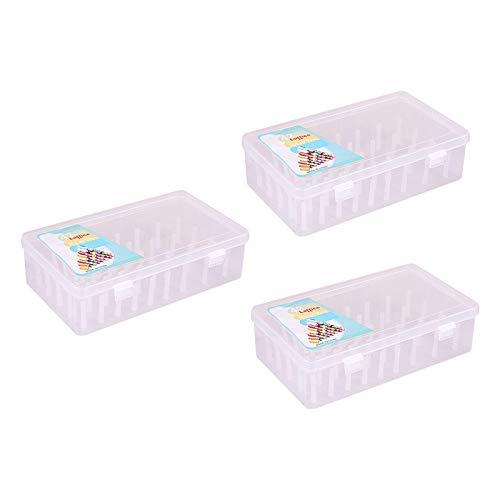 F Fityle 3x Caja de Almacenamiento de Hilo de Coser Vacía Grande Soporte Organizador de Caja de Bobinas de Coser