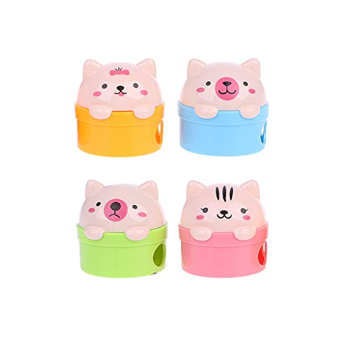 Shaoyanger Anspitzer für Kinder, Kreative Katze und Bären, Kunststoff, Bleistiftspitzer, für Kinder, Schulbedarf