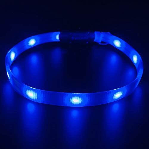 HOLDALL Led Dog Collar Light, USB Rechargeable Lighted...