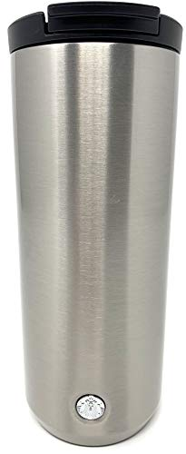 Starbucks Vacuum Insulated Traveler Tumbler Coffee Mug 12 Oz - Silver Stainless Steel