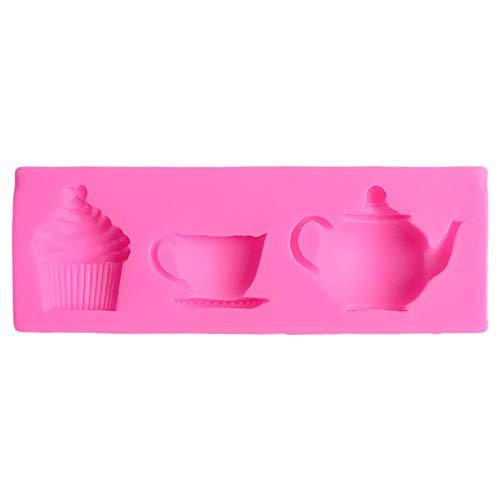 CIVIOP Formen Küche Teekanne Tasse Silikon Backgeschirr Silikon 3D Backwerkzeuge Für Kuchen Silikon Kuchen Dekorieren Formen Backen Schablonen Für Kuchen (2 Stücke)