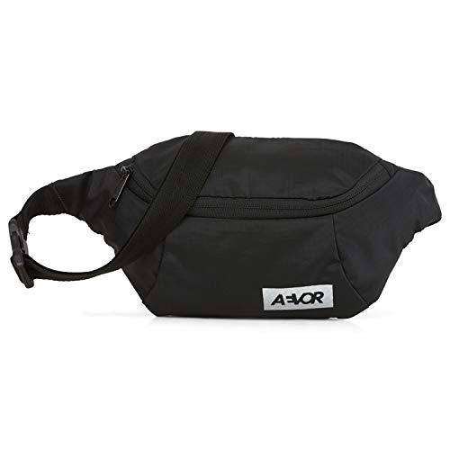 AEVOR Hip Bag erweiterbare Bauchtasche für Damen und Herren (1L) - Ripstop Black