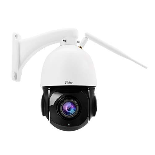 PTZ WiFi IP Überwachungskamera Aussen,5MP 360° Dome Kamera,IP66 Wasserdicht,20x optischer Zoom,Eingebautes Zwei Wege Audio,Humanoide Bewegungserkennung, 70M IR Nachtsicht,Support 128G Micro SD Karte …
