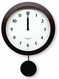 さんてる(Suntel) 掛け時計 ダークブラウン Φ25×34×6cm