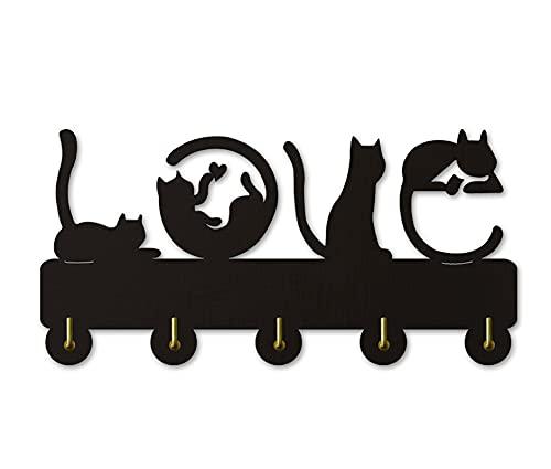 Productos de Décor de Inicio Ganchos de pared para gatos lindos |Decoración hecha a mano Hobling Home Ganchos de almacenamiento |Regalos de Pascua Cinco ganchos de metal Tenedor de llavero Percha de l