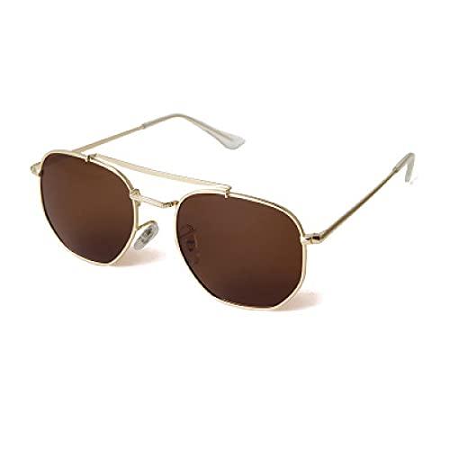 Gafas De Sol Gafas De Sol Clásicas Mujeres Hombres Retro Marco De Metal Gafas De Sol Piloto Gafas De Sol Polarizadas Uv400 Goldtea