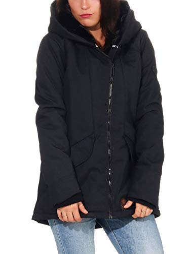 Aiki Keylook Damen Jacke Winterparka Snow Halo mit XL-Kapuze 192-05-1003 Black M