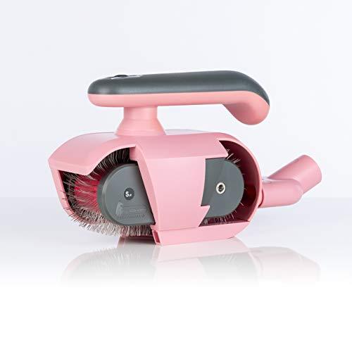 FurWonder Elektrische Hundebürste / Fellbürste in pink für Hunde und Pferde - Entfernen von überschüssiger Unterwolle